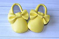 """Пинетки для девочки """"Monica"""" (желтые) 12 размер"""