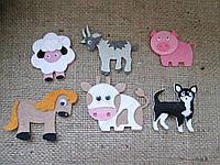 Набор фигурок из фетра, Домашние животные