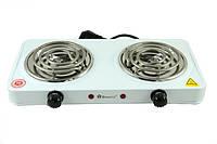Электроплита Domotec MS-5802, электроплитка на 2 конфорки, двухконфорочная плитка, плита настольная