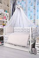Комплект постельного белья для малыша Bepino Польша Полоска/Совы