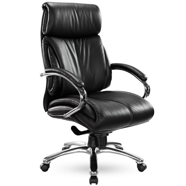 Кресло Аризона (ПМК) HB  Хром Комбинированная кожа Люкс чёрный тм AMF. Габариты кресла :69х66 см Высота min.: 115 см. Высота max.: 125 см.