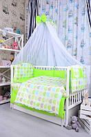 Постельное белье в кроватку новорожденного Bepino Польша Сердечки