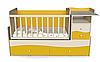 Детская кровать трансформер Волна 2 Желтая + слоновая кость