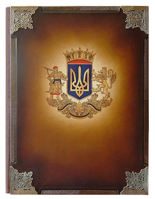 Папка на подпись Гербовая (кожа)