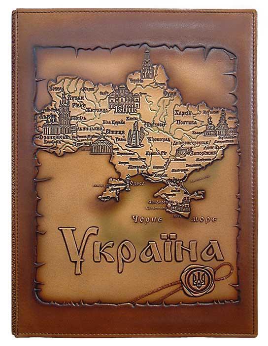 Папка на подпись Украина (кожа)