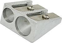 Точилка металлическая двойная, длина лезвия 2.3см new620165