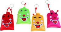 Мягкая игрушка брелок мешочек смеха 8 см