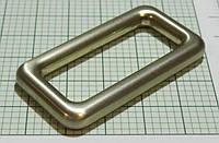 Рамка для сумок (Италия) Marni (Овал) металлическая литая (белое золото, матовый)