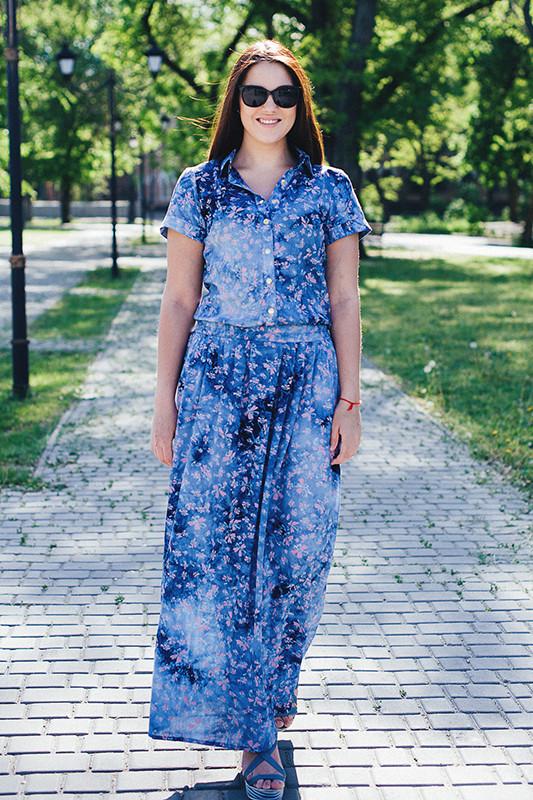 Платье летнее 46-48 размера легкое из хлопка