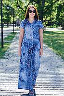 Платье летнее большого размера легкое из хлопка 52