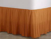 Подзор для кровати Узкие складки Модель 1 Медовый