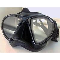 Маска для плавания Cressi Sub Nano; чёрная Кресси Саб Нано подводной охоты дайвинга снорклинга