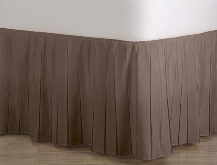 Подзор для кровати Узкие складки Модель 1 Порох