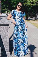 Платье летнее с 3D принтом большого размера 60