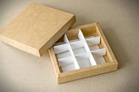 Коробка для конфет на 9 шт крафт