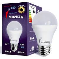 Светодиодная лампа SIRIUS, 10W, 4000K, нейтрального свечения, цоколь - Е27, 2 года гарантии!!