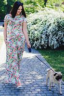 Женский летний комбинезон с цветами большого размера