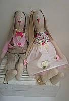 Кролики в стиле Тильда, свадебная парочка Hand Made
