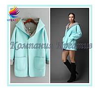 Яркое женское пальто из флиса под заказ (от 50 шт.)