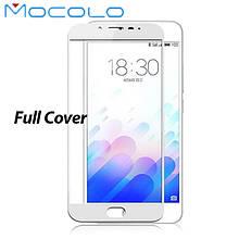 Защитное стекло Mocolo 2.5D 9H на весь экран для Meizu M3e белый