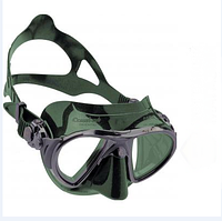 Маска для плавания Cressi Sub Nano, чёрно-зелёная Кресси Саб Нано подводной охоты дайвинга снорклинга