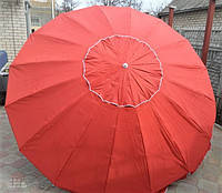 Пляжный зонт, торговый зонтик, садовый, диаметр 3,5м, круглый, зонт 16 спиц, красный