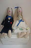 Кролики в стиле Тильда, свадебная парочка Hand Hand, фото 1