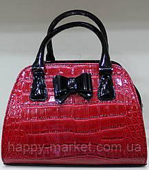 Сумка женская Саквояж Fashion  Искуственная кожа 17-1378-2 Красная с черным