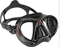 Маска для плавания Cressi Sub Nano, чёрно-коричневая кресси саб нано подводной охоты дайвинга снорклинга