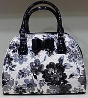 Сумка женская Саквояж Fashion  Искуственная кожа 17-1378-3 Черно белпя
