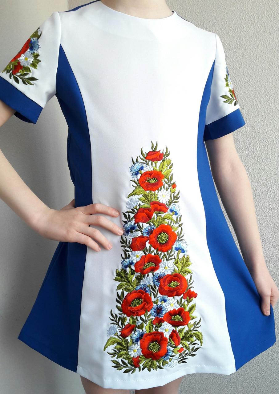 Платье детское с вышивкой ЖТ23