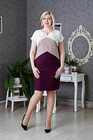 Красивое лненное платье подчекивающее фигуру, 54 размер