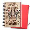 """Блокнот скетчбук """"Верь в свои мечты"""" с цветным внутренним блоком"""
