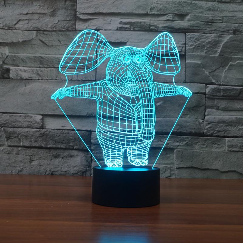 Нічник 3D-світильник Pets Elephant