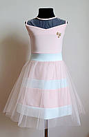 Детское праздничное платье для девочки, пудра