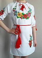 Платье детское вышитое короткий рукав