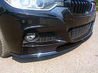 Губа юбка обвес переднего бампера BMW F30 M Sport Paket (Стекловолокно)