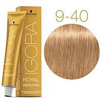 Igora Royal Absolutes - Крем краска для волос 9-40 Экстра светлый блондин бежевый натуральный, 60 мл