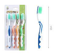 Набор Корейских зубных щеток с нефритом JADE + супер ручка (4шт)