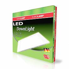 Світлодіодний квадратний світильник врізний EUROLAMP Downlight 18W 4000K