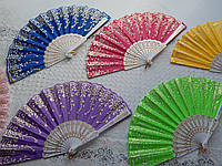 Красивые веера  разные цвета, фото 1