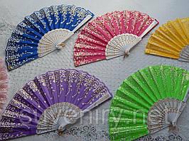 Красивые веера  разные цвета