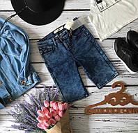 Фирменные джинсовые шорты из денима с tie dye эффектом  SR1951
