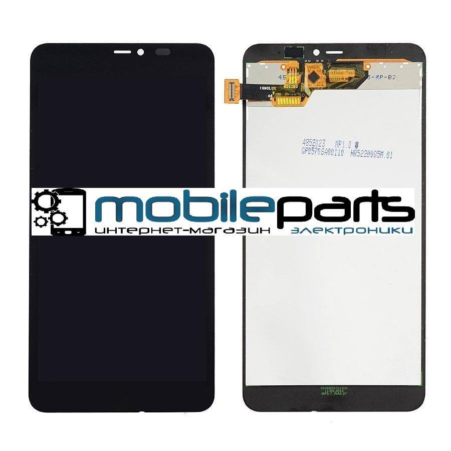 Оригинальный Дисплей (Модуль)+Сенсор (Тачскрин) для Microsoft Lumia 640 XL (Черный)