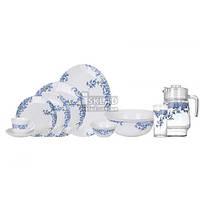 Сервиз столовый Arcopal Aliya Blue 38+7 пр L5294Lum