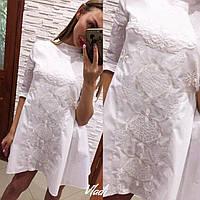 Платье коттоновое с вышивкой
