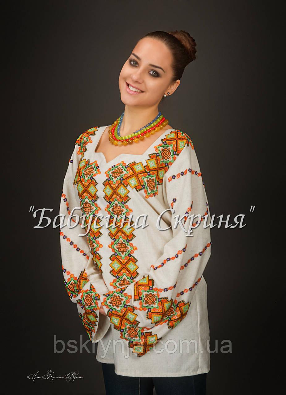 Заготовка жіночої сорочки для вишивки нитками/бісером БС-92