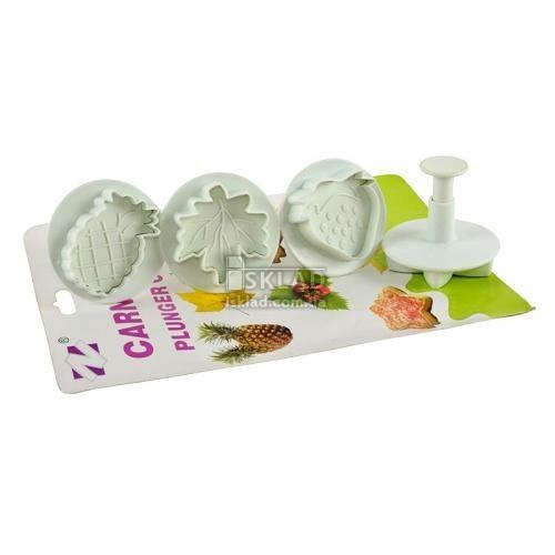Набор штампов для теста фрукты ZN-1008