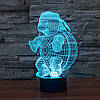 Ночник 3D-светильник Pets Turtle, фото 3