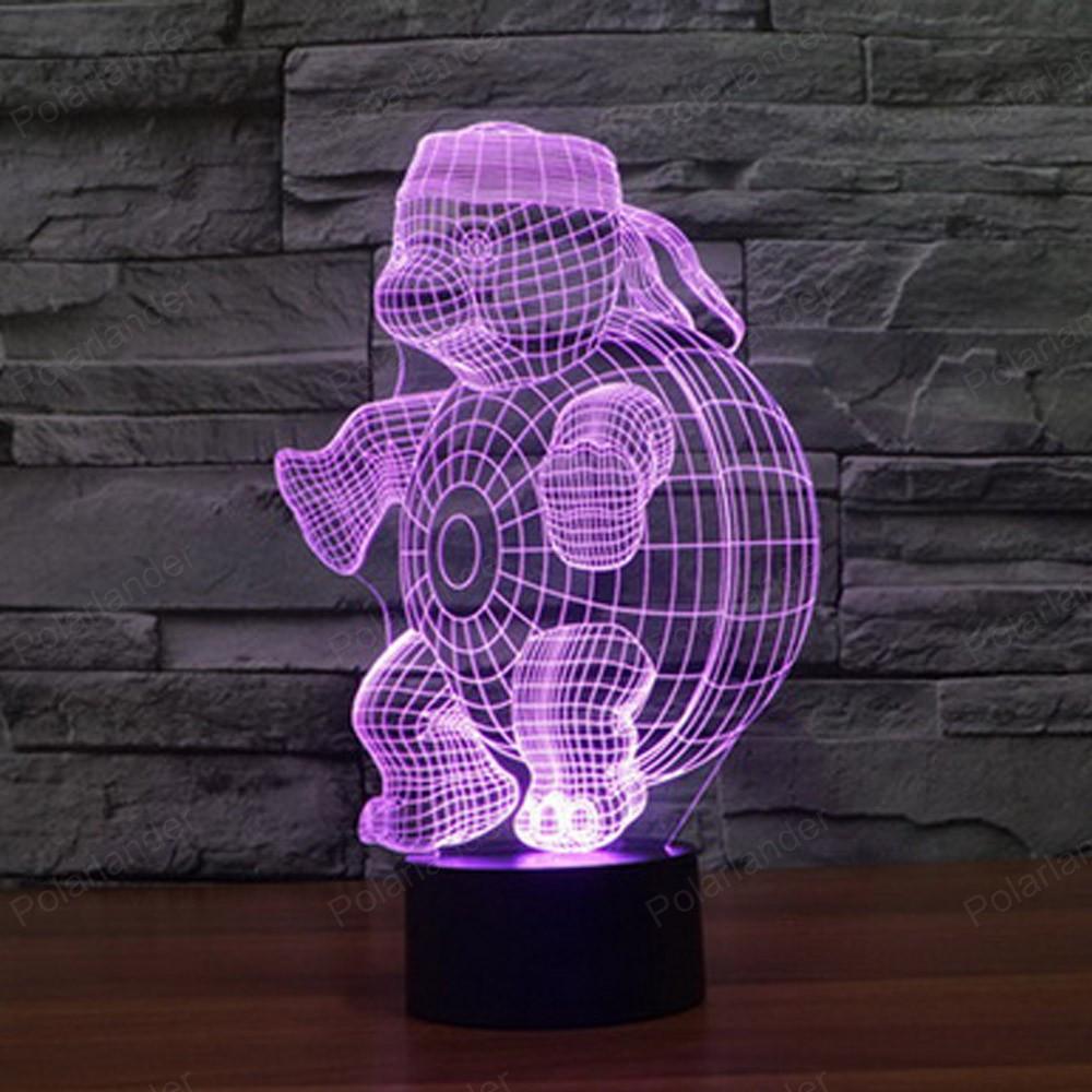Ночник 3D-светильник Pets Turtle